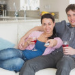 Relaxing couple in the living room — Stock Photo