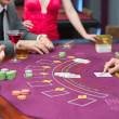 Foto Stock: Poker table
