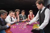Playing poker — Stock Photo