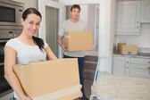 Man and woman relocating — Stock Photo