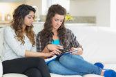 Women doing their homework — Stock Photo