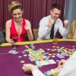 Winning in poker game — Stock Photo