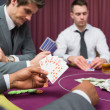 Mat poker table has royal flush — Stock Photo #23090960