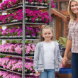 Mother and child in garden centre — Stock Photo #23091236