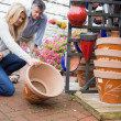 Couple looking at a pot — Stock Photo #23091460