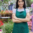Stock Photo: Portrait of joyful gardener