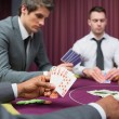 Men playing poker — Stock Photo