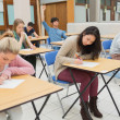 Students sitting at the classroom — Stock Photo #23098768