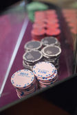 Chips on the table in a casino — Stock Photo