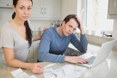 Couple working on the finances — Stock Photo