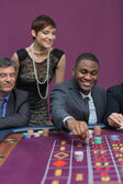 Bets being placed at roulette table — Stock Photo