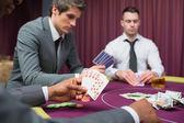 Men playing poker — Stock Photo