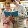 Stockfoto: Standing at library