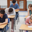 Students sitting a test - Stock Photo