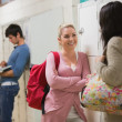 Students standing at the hallway — Stock Photo #23100520