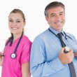 Royalty-Free Stock Photo: Two doctors smiling