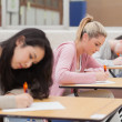 Stock Photo: Students writing during exam