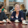 Stock Photo: Friends enjoying coffee