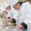 Chef's preparing their salads — Stock Photo #23103614