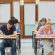 Students sitting an exam — Stock Photo