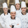 Stock Photo: Happy team of Chef's