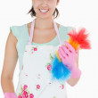 Womholding duster — Stock Photo #23105454