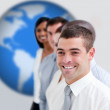 Businesspeople standing smiling — Stock Photo #23106604