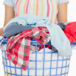 Full laundry basket — Foto de Stock