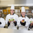 Chef's presenting different salads — Stockfoto #23109616