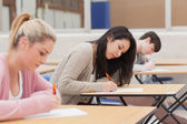 Students taking an exam — Stock Photo
