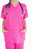 Pink scrubs — Stock Photo