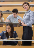 Students working at the lecture hall — Stock Photo