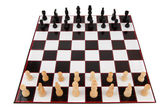 Chessboard fully set up — Stock Photo