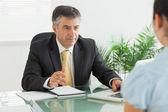 Businessman having a meeting — Stock Photo
