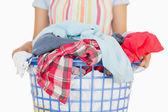 Full laundry basket — Stock Photo