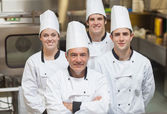 Smiling team of Chef's — Stock Photo