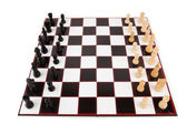 Chessboard with chess pieces — Stock Photo