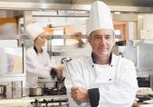 Chef holding ladle — Stock Photo