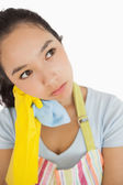 Overworked cleaning lady — Stock Photo