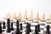 Chessboard set up to play — Stock Photo