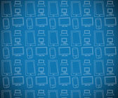 Blue multimedia themed background — Stock Photo