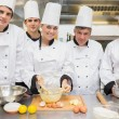 Stock Photo: Culinary class with pastry teacher