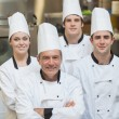 Smiling group of Chef's — Stock Photo
