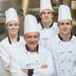 Foto de Stock  : Smiling group of Chef's