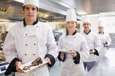 Deserti che presentano chef — Foto Stock
