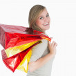 Woman with shopping bags — Stock Photo #23485335