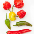 Stock Photo: Various chillies