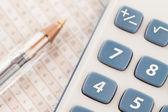 Sektor kalkulator — Zdjęcie stockowe