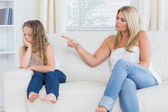 Mother scolding daughter — Stock Photo