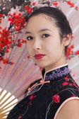 Woman wearing traditional kimono — Stock Photo